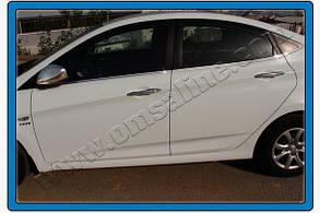 Окантовка стёкол Hyundai Accent Solaris (2011+)