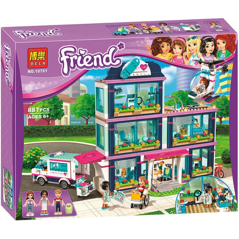 "Конструктор Bela 10761 ""Клиника Хартлейк-Сити"" (аналог LEGO Friends 41318), 887 дет"