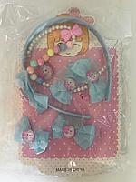 Набор аксессуаров Frozen, обруч, бусы, заколки, резинки, в кульке  M00789