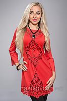 Платье туника Ангелина с перфарацией , фото 1
