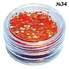 Блискітки Глітер Золотисто - Червоного кольору для Дизайну Нігтів в Банку, Дизайн Нігтів, Манікюр, фото 6
