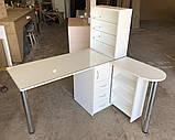 Угловой маникюрный стол с УФ лампой V240, фото 2