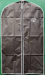 Чехол для хранения одежды из плащевки с молнией и окошком, черного цвета, размер 60*100 см