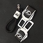 Брелок кожаный AZU с логотипом Lexus, фото 4