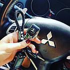 Брелок кожаный AZU с логотипом Mitsubishi, фото 2