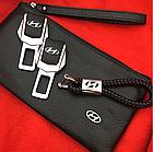 Брелок кожаный AZU с логотипом Hyundai, фото 2