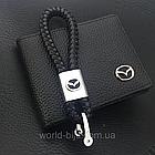 Брелок кожаный AZU с логотипом Mazda, фото 4