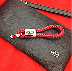 Брелок кожаный AZU с логотипом Kia, фото 2