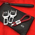 Брелок кожаный AZU с логотипом Kia, фото 3