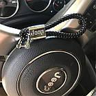 Брелок кожаный AZU с логотипом Jeep, фото 2