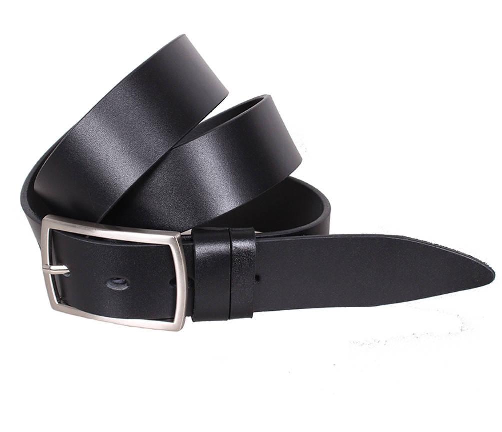 Мужской кожаный ремень Dovhani LL35-193 115-125 см Черный
