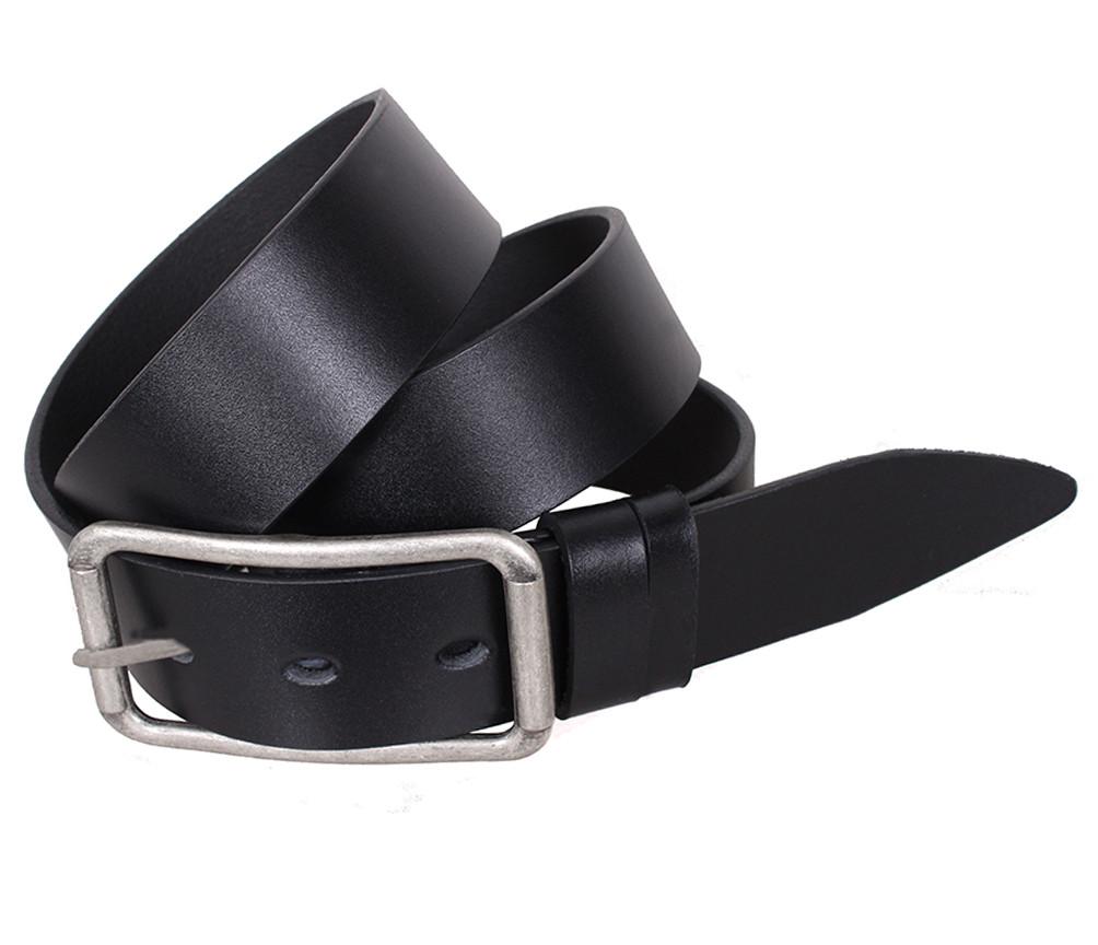 Мужской кожаный ремень Dovhani LL41-193 115-125 см Черный