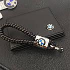 Брелок кожаный AZU с логотипом BMW, фото 4