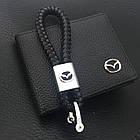 Брелок кожаный AZU с логотипом Mazda, фото 2