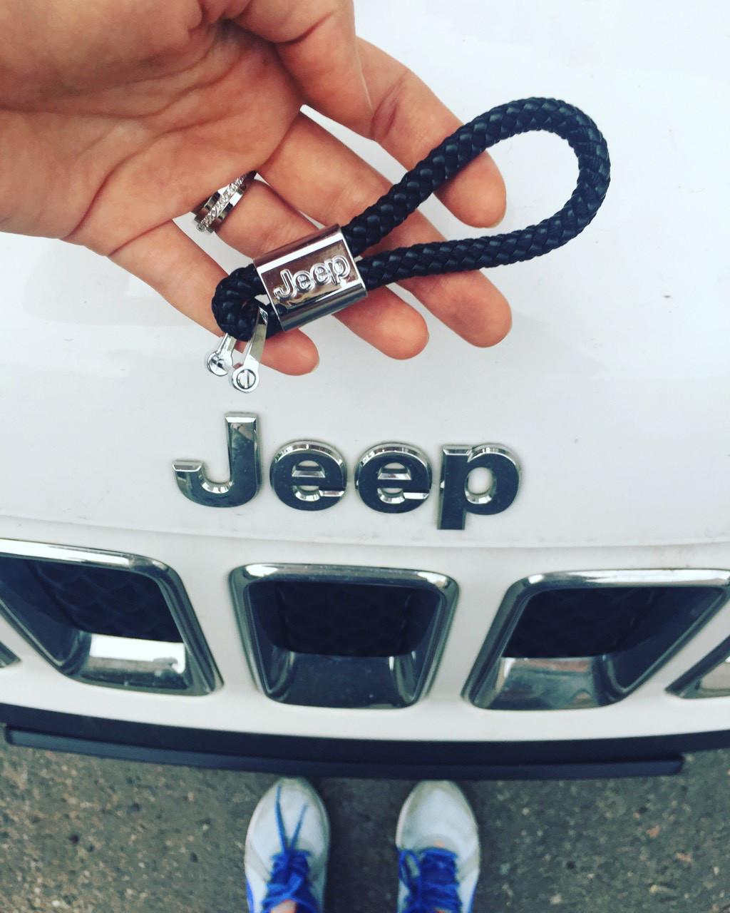 Брелок кожаный AZU с логотипом Jeep