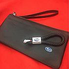 Брелок кожаный AZU с логотипом Subaru, фото 4