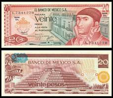 Мексика / Mexico 20 Pesos 1977 Pick 64d UNC