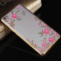 Чехол Luxury для Xiaomi Mi Max бампер ультратонкий Gold