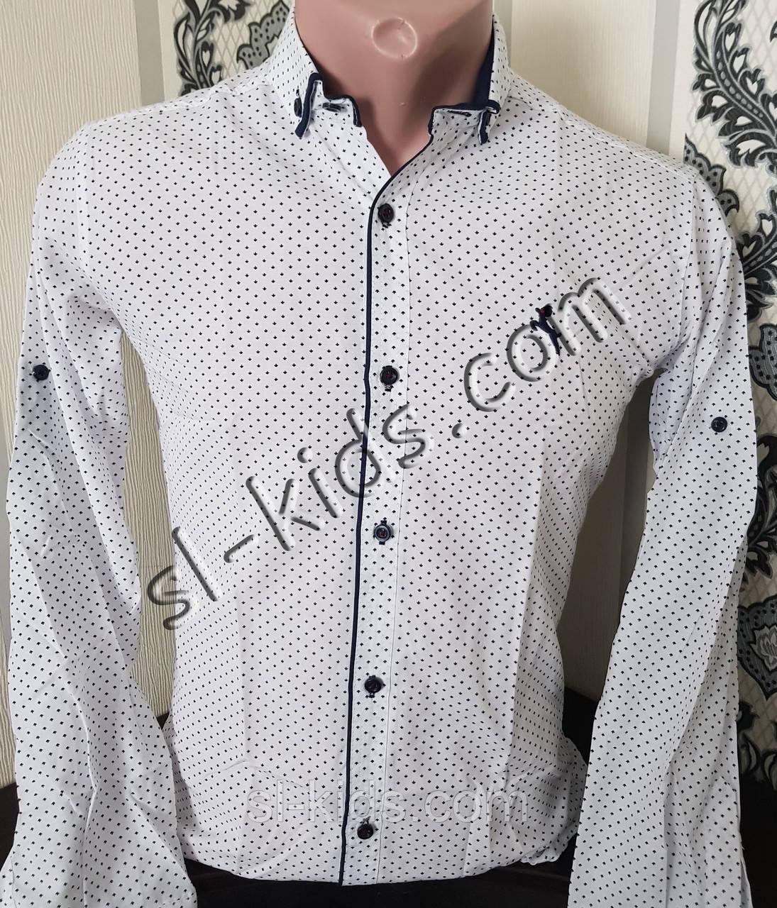 Стильна сорочка для хлопчика 11-15 років(роздр) (біла 01) (пр. Туреччина)