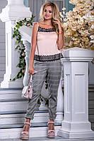 Майка ошатна з шовку з мереживом 42-48 розміру, фото 1