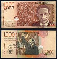 Колумбия 1000 песо 2001 UNC