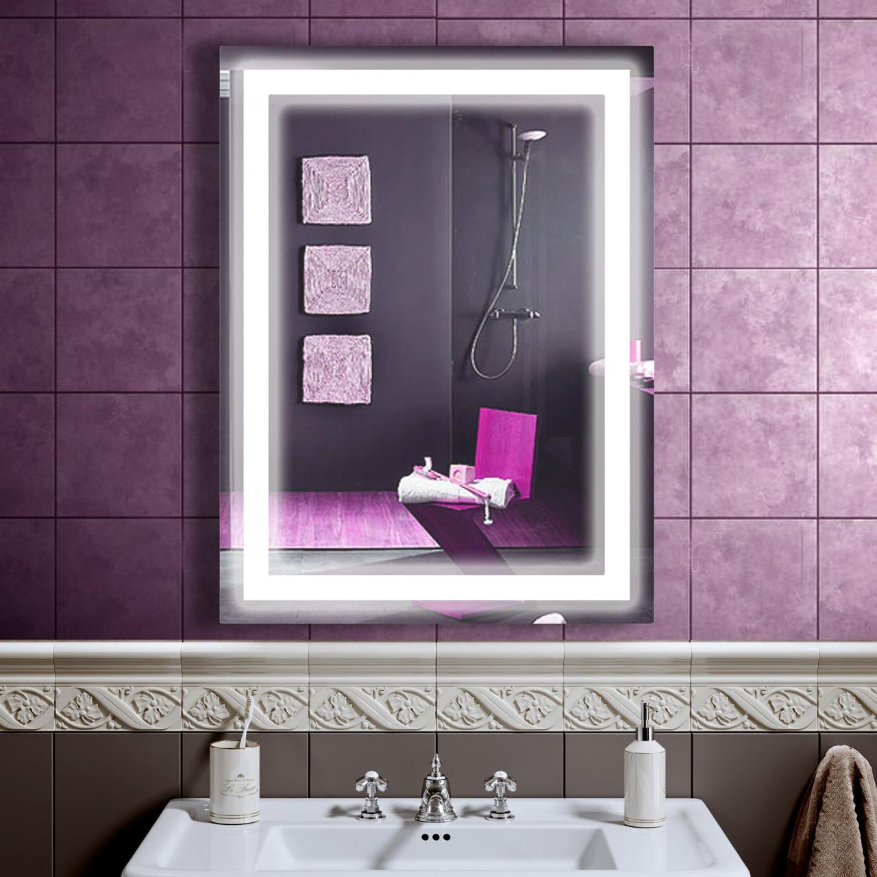 LED зеркало со светодиодной подсветкой DV 752 600х800 мм. дзеркало