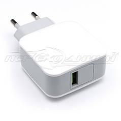 Сетевое зарядное устройство USB 5V, 2.4A, белый