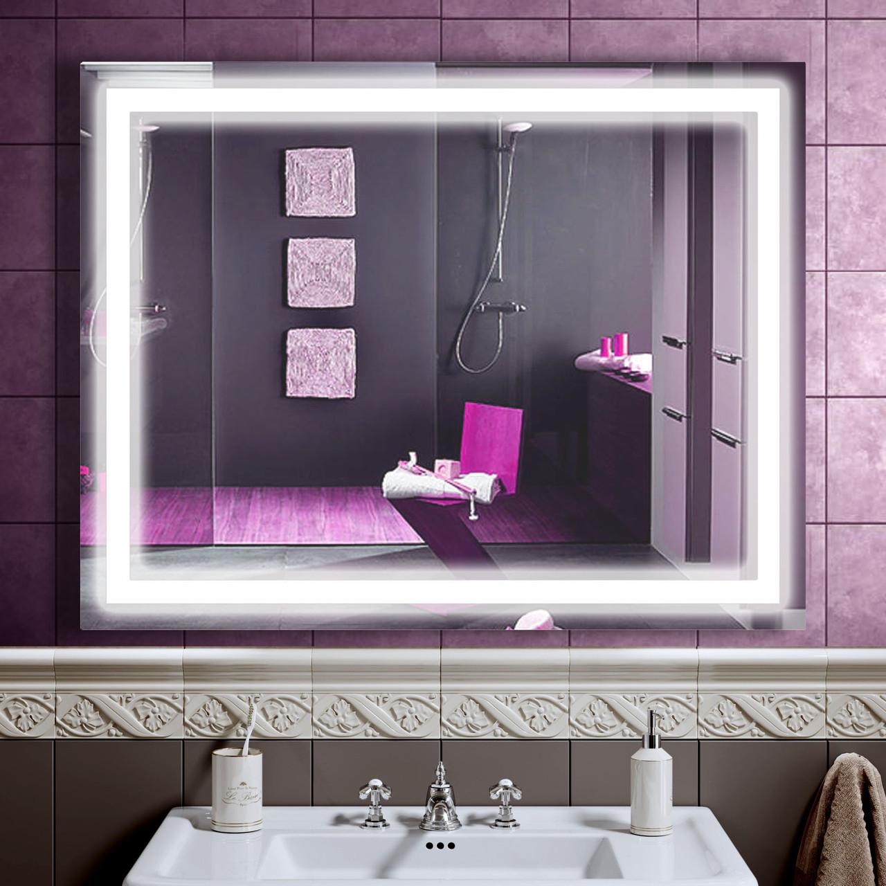 Зеркало LED со светодиодной подсветкой DV 754 1025х800 мм.