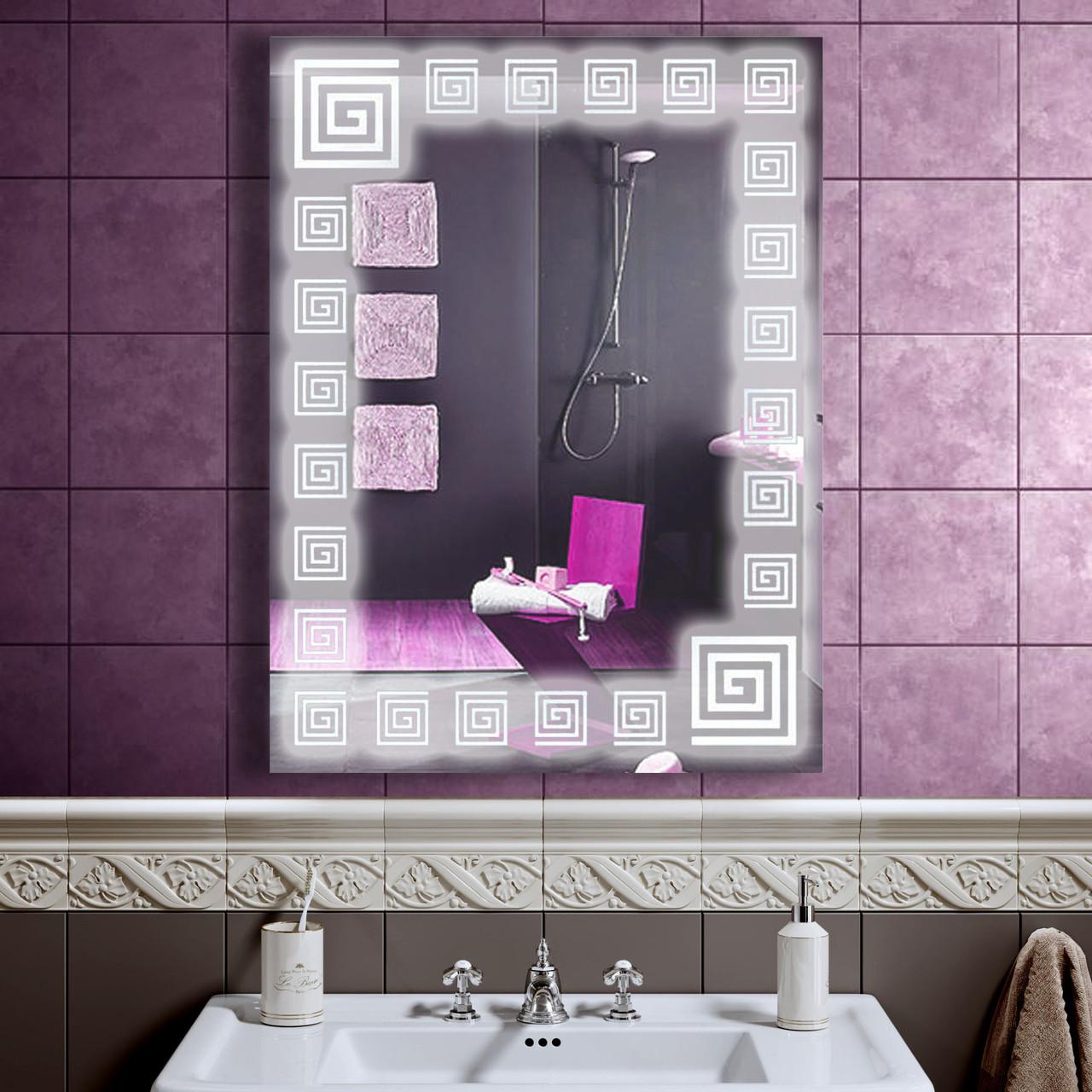 LED зеркало со светодиодной подсветкой DV 755 600х800 мм. дзеркало