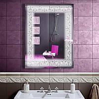 LED зеркало в ванную со светодиодной подсветкой DV 756 600х800 мм.