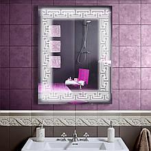 LED дзеркало у ванну зі світлодіодним підсвічуванням DV 756 600х800 мм