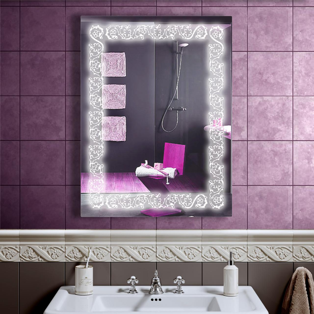 Зеркало LED со светодиодной подсветкой DV 757 600х800 мм.