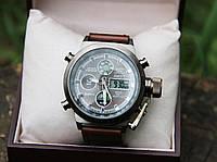 Стильные мужские часы с кожаным  ремешком