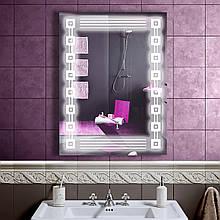 LED дзеркало у ванну зі світлодіодним підсвічуванням DV 7510 600х800 мм