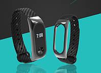 "ОРИГИНАЛ Ремешок ""Fiber Carbon"" для Xiaomi Mi Band 2 - Black (карбон+металл)"