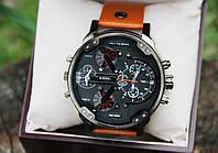 Мужские  часы DIESEL с кожаным  ремешком (копия)