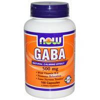 GABA/ГАБА/ГАМК  500 мг 100 капс Транквилизаторы для мозгового кровообращения  сон Now Foods