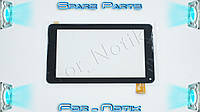 """Тачскрин (сенсорное стекло) для GT70PFD8880, 7"""", внешний размер 186*106 мм, рабочий размер 155*87 мм, 30 pin, черный"""