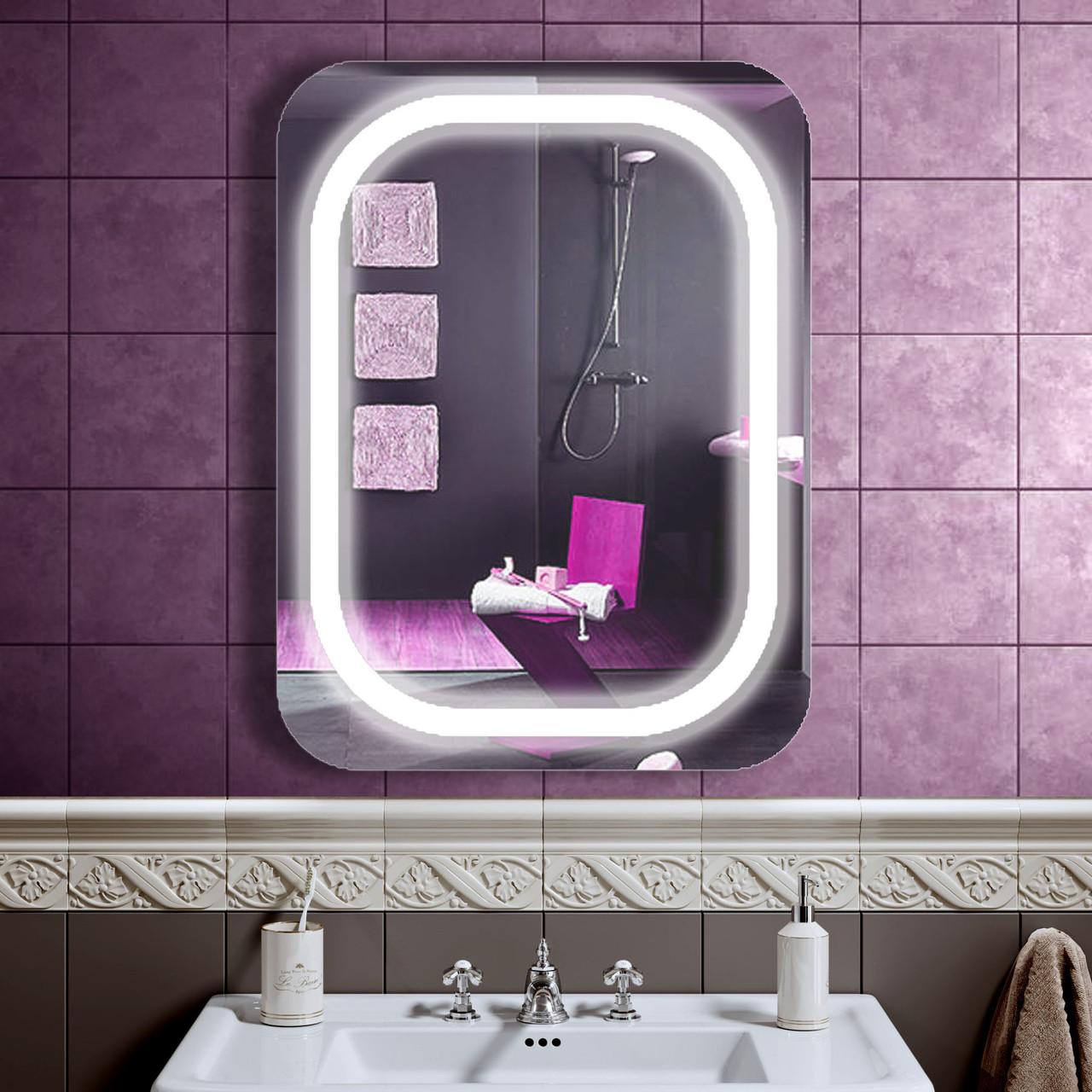 LED дзеркало у ванну зі світлодіодним підсвічуванням DV 7518 600х800 мм