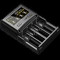 Зарядное устройство Nitecore SC4 с LED дисплеем (0.5A, 1A, 2A, 3A), фото 1