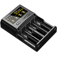 Зарядное устройство для аккумуляторов Nitecore SC4 с LED дисплеем (0.5A, 1A, 2A, 3A), фото 1