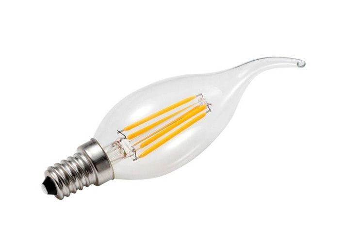 LED лампа свеча на ветру 4w 2700K Filament