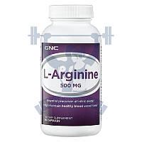 GNC L-Arginine 500 л-аргинин для улучшения кровообращения от головной боли нормализация давления