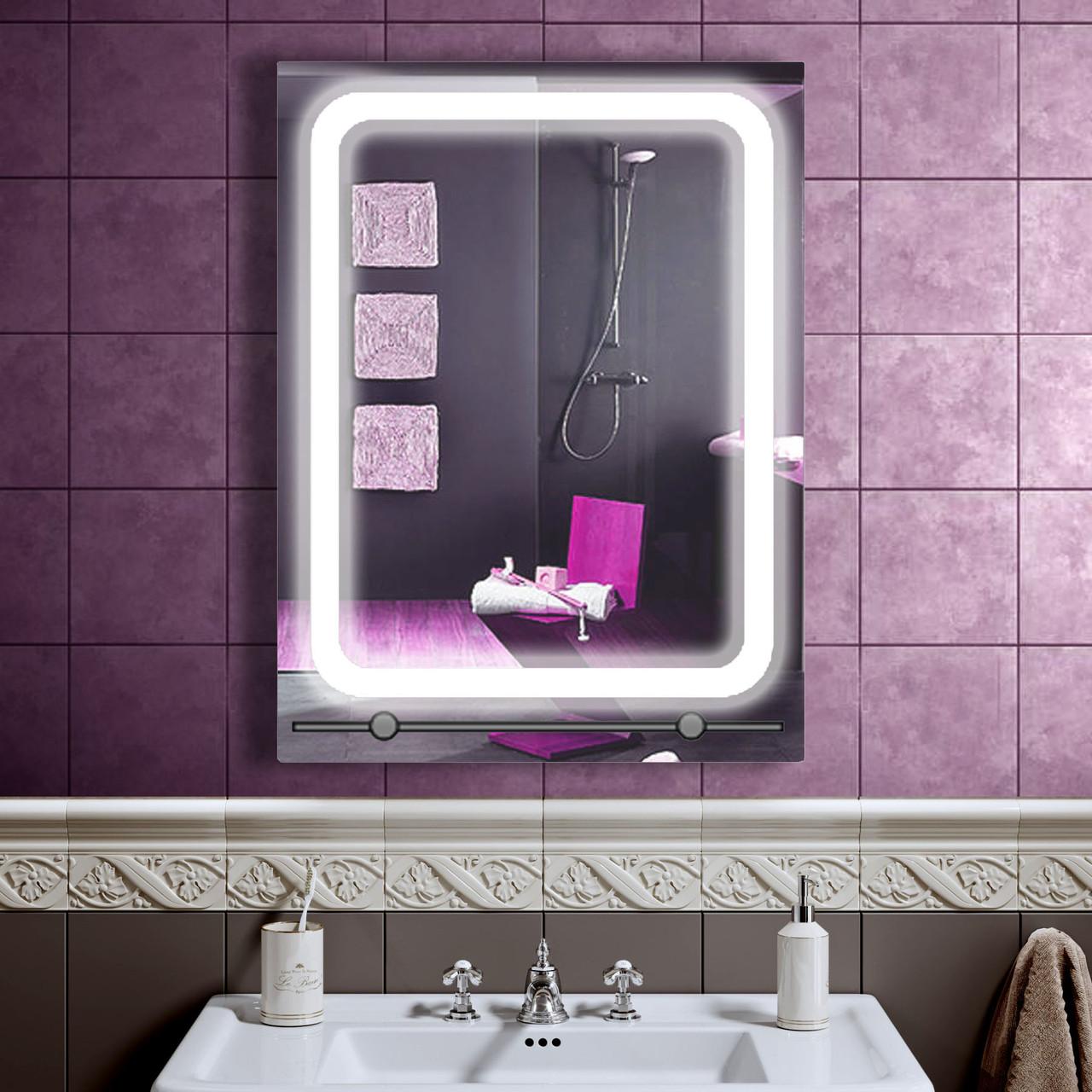 LED зеркало в ванную со светодиодной подсветкой DV 7528 600х800 мм.