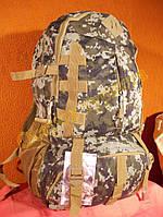 Рюкзак туристический камуфляжный городской спортивный Jiutuoniao 0861 пиксель зеленый 45 литров, фото 1