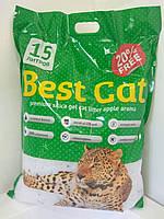 Бест Кет Best Cat силикагелевый наполнитель для кошачьего туалета зеленое яблоко 15 л (5,9 кг)