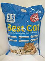 Бест Кет Best Cat силикагелевый наполнитель для кошачьего туалета с мятой 15 л (5,9 кг)