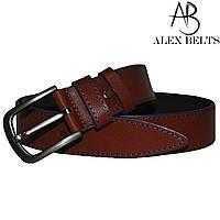 Ремень мужской джинсовый (коричневый) кожа 40 мм - купить оптом в Одессе