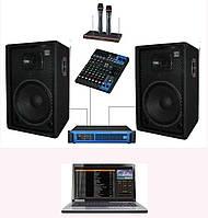 Караоке - система с ноутбуком + комплект SD DJ15KAR3, 700Вт для кафе