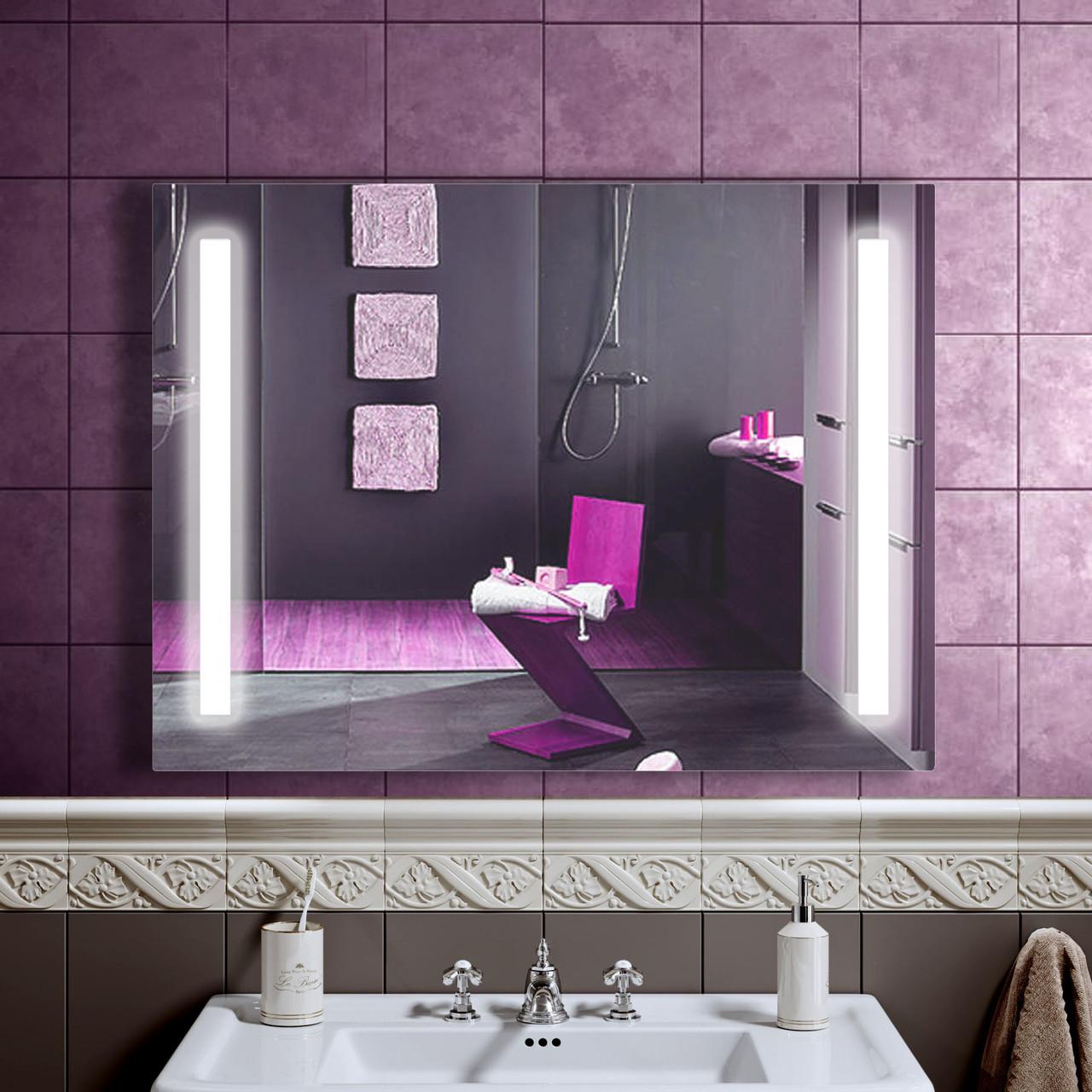 LED дзеркало зі світлодіодним підсвічуванням DV 7536 800х600 мм. дзеркало